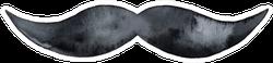 Dark Silhouette Of Men Mustache Sticker