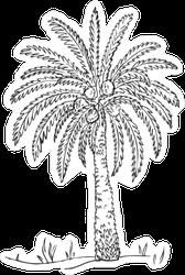 Date Fruit Palm On Sand Dunes Sticker