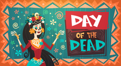 Day Of Dead Traditional Mexican Halloween Sticker