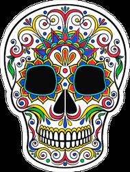 Day Of The Dead Floral Sugar Skull Sticker
