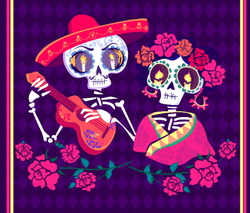 Day of the Dead Skeletons Couple Sticker