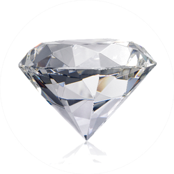 Dazzling Diamond On White Background Sticker