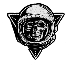 Dead Astronaut In Spacesuit Sticker