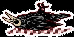 Dead Crow Illustration Sticker