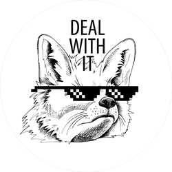 Deal With It Fox Sunglasses Meme Sticker
