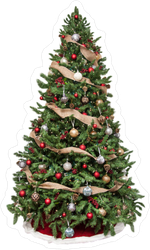Decorated Christmas Tree Sticker