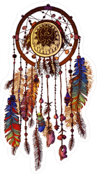 Decorated Native American Indian Dream Catcher Sticker