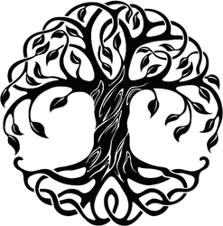Decorative Celtic Tree Of Life Sticker