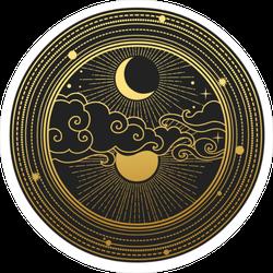 Decorative Gold Sky Sticker