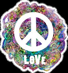 Decorative Hippie Love Peace Sticker