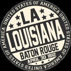 Decorative Louisiana Stamp Sticker