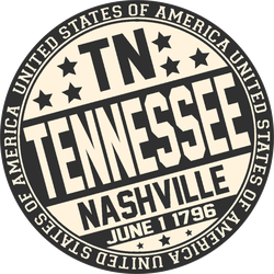 Decorative Tennessee Stamp Sticker