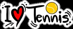Decorative Tennis Love Sticker