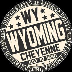 Decorative Wyoming Sticker