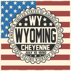 Decorative Wyoming USA Flag Sticker