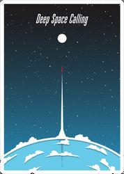 Deep Space Calling Sticker