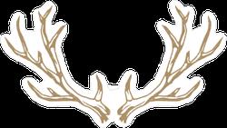 Deer Antlers Illustration Sticker
