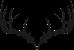 Deer Antlers Transfer Sticker