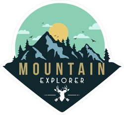 Deer Mountain Explorer Sticker