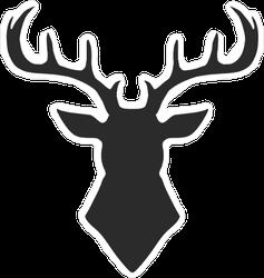 Deer Silhouette Trophy Sticker
