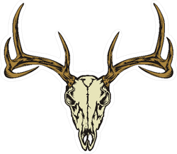 Deer Skull Sticker