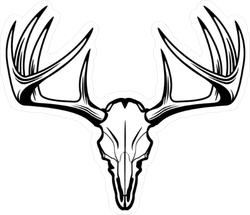 Deer Skull Vector Sticker