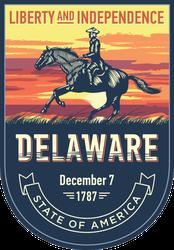 Delaware Banner Sticker