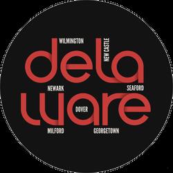 Delaware Cities Sticker