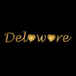 Delaware Golden Lettering Sticker