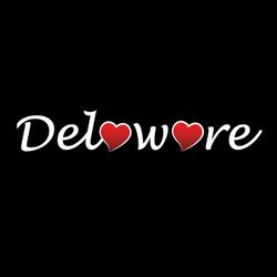 Delaware Heart Logo Sticker