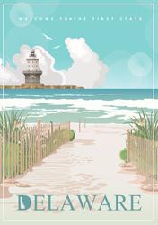 Delaware Landscape Sticker