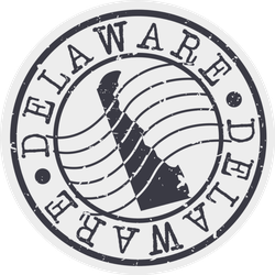 Delaware Stamp Postal Sticker