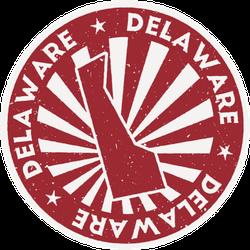 Delaware Stamp State Outline Sticker