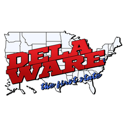 Delaware The First State Text Sticker