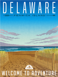 Delaware Travel Sticker