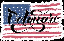 Delaware USA Flag Sticker