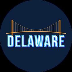 Delaware Vintage Lettering And Bridge Sticker