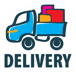 Delivery Moving Cartoon Logo Trucking Sticker