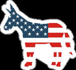 Democrat Party Isolated Icon Illustration Sticker