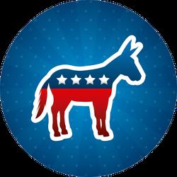 Democrat Political Party Circle Sticker
