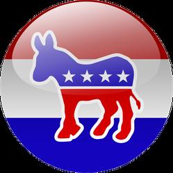Democratic Party Button Sticker
