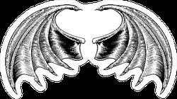 Demon Dragon Wings Sticker