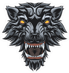 Demon Wolf Sticker