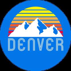 Denver Mountain Colorado Sticker