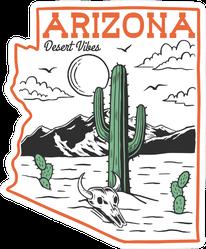 Desert Theme Arizona Desert Vibes Sticker