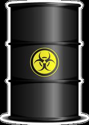 Detailed Illustration Of A Bio Hazard Waste Barrel Sticker