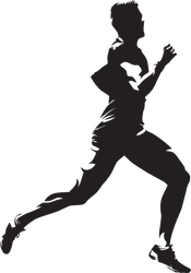 Detailed Male Runner Sticker