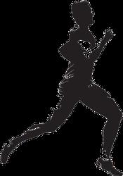 Detailed Male Runner Sticker