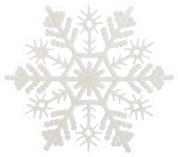 Detailed Snowflake Isolated On White Sticker