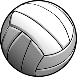 Detailed Volleyball Ball Illustration Sticker